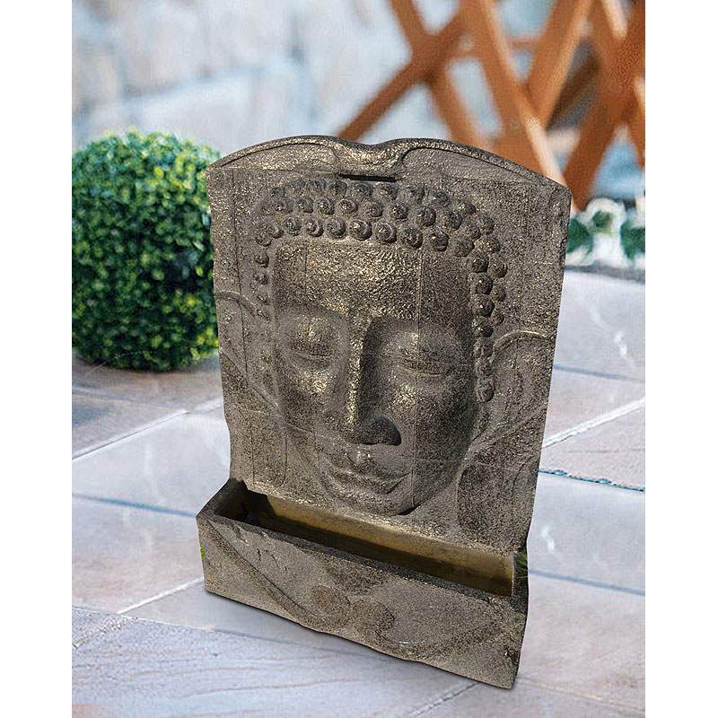 polystone buddha fountain 016582 00. Black Bedroom Furniture Sets. Home Design Ideas